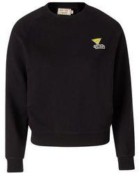 Maison Kitsuné Sweatshirt Triangle Fox - Schwarz