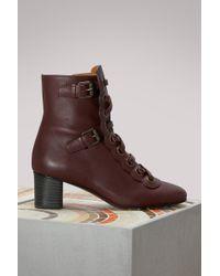 Chloé   Orson Ankle Boots   Lyst