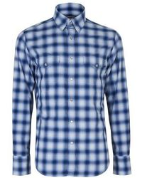 Tom Ford - Faded Check Western Shirt - Lyst