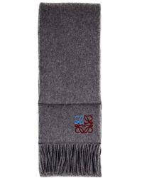Loewe Cashmere Scarf - Grey
