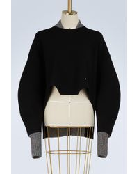 9970a3b71a Esteban Cortazar Kira Knit Corset Sweater in White - Lyst