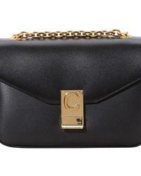Celine C Medium Model Bag In Shiny Calfskin - Black