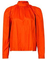 Roseanna Haut en taffetas - Orange