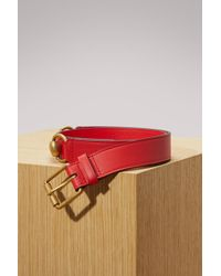 Gucci - Leather Belt With Horsebit - Lyst