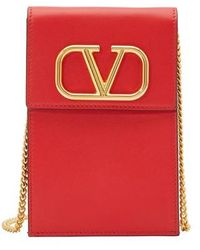 Valentino Bracelet Rockstud Double Garavani - Rouge