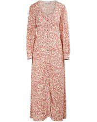 Ganni Langes, schweifendes Kleid - Pink