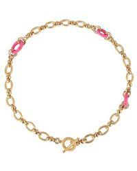 Gas Bijoux Halskette Escale Raphia - Pink