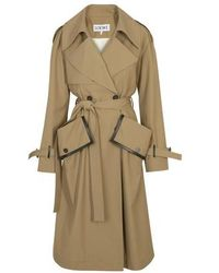 Loewe Trench-coat à poche - Neutre
