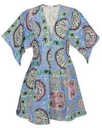 JW Anderson Robe Mystic Paisley - Bleu
