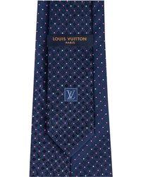 Louis Vuitton Micro Dots Tie - Blue