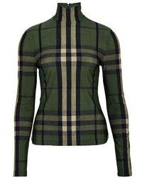 Burberry Turtleneck Sweater - Green