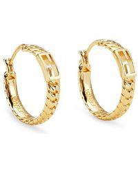 Fendi Baguette Small Earrings - Metallic