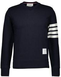 Thom Browne Striped 4 Bar Sweatshirt - Blue