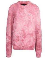 Amiri Marmorierter Pullover Tie and Dye - Pink