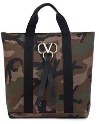 Valentino Garavani Camouflage Tote Bag - Black