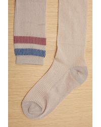 RED Valentino Long Socks - Metallic