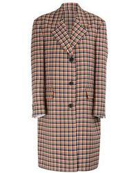 Calvin Klein 205w39nyc Virgin Wool Coat - Multicolour