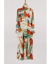 Gucci - Robe en soie imprimé Cities illustré - Lyst