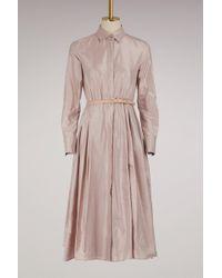 Max Mara - Fiorire Silk Dress - Lyst