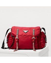 Prada Nylon Messenger Bag - Red