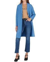 Harris Wharf London Manteau en laine pressée - Bleu