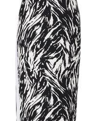 N°21 Zebra Print Pencil Skirt - Black