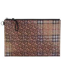 Burberry Leather Clutch - Multicolour