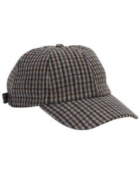 Officine Generale Checked Cap - Black
