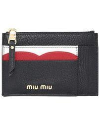 Miu Miu Porte-cartes zippé - Multicolore