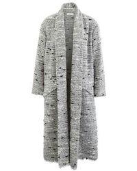 Étoile Isabel Marant Faby Waterfall-collar Slubbed-bouclé Coat - Gray