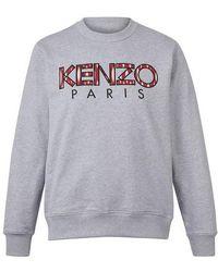 KENZO Sweat col rond Classic Paris - Gris