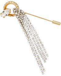 Miu Miu Broche avec cristaux - Métallisé