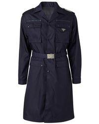 Prada Manteau - Bleu