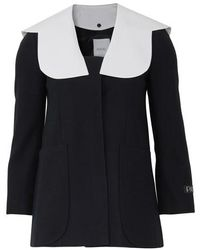 Patou Jacket With Removable Collar - Black