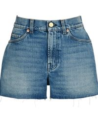 Gucci Shorts With Patches - Blue