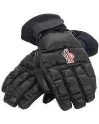 3 MONCLER GRENOBLE Handschuhe mit Logo - Schwarz