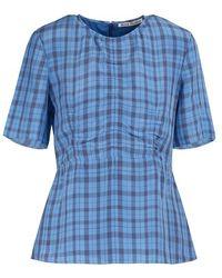 Acne Studios Checkered Shirt - Blue