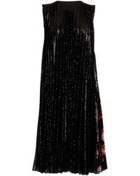 MSGM Robe à pailletes avec détail foulard - Noir