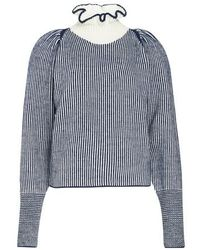See By Chloé Victorian Collar Knit Sweater - Blue