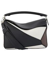 Loewe Puzzle Shoulder Bag - Black