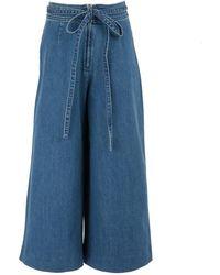 Vanessa Seward Pantalon Georgia en denim - Bleu