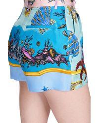 Versace Bedruckte Shorts - Blau