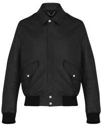 Louis Vuitton Leather Flight Jacket - Black