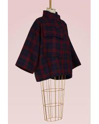 Sofie D'Hoore Wool Tartan Short Coat - Blue