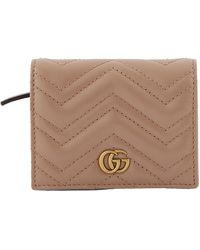 Gucci GG Marmont Cardholder - Natural