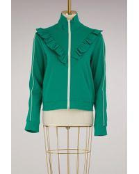 RED Valentino - Ruffle Sweater Jacket - Lyst