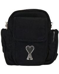AMI Ami De Coeur Cross-body Bag - Black