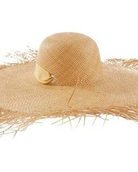 Sensi Studio Lady Ibiza Fringed Wide-brim Straw Hat - Natural