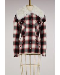 Moncler Gamme Rouge - Luna Check Wool Jacket - Lyst