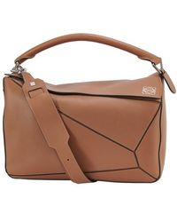 Loewe Puzzle Large Bag - Brown